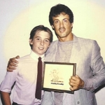 Frank & Sly Stallone (1985) - Hollywood, CA