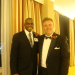 With Olympian Carl Lewis