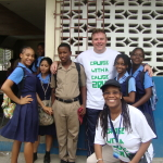 Frank with Students @ Jamaica
