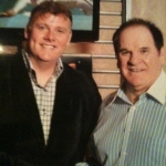 Frank with Pete Rose